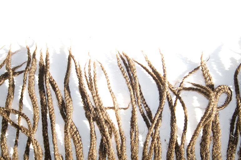 Brown threads textile texture