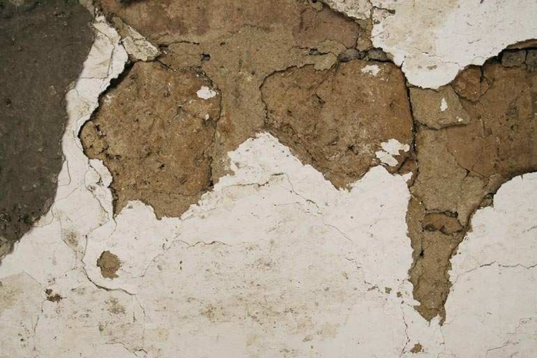 Old white cracked wall texture