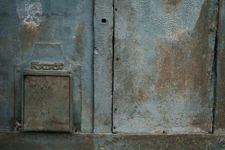 Blue painted metal free stock texture