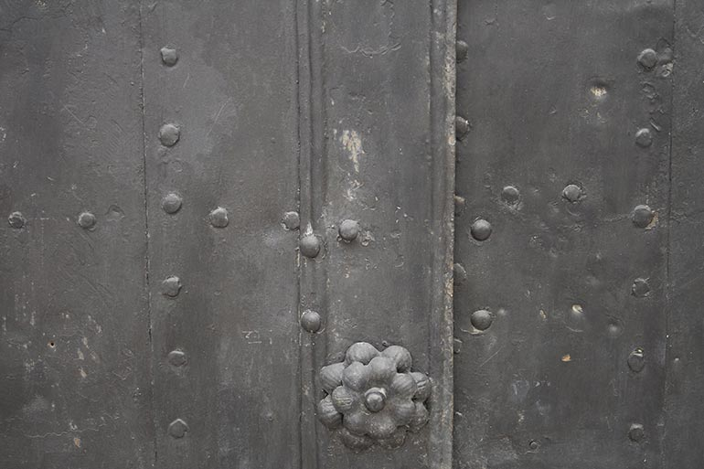 Brown Metal door closeup free stock texture