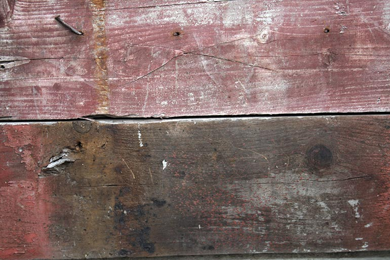 Wood, painted planks old