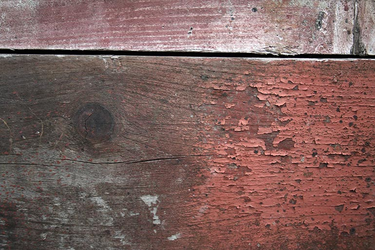 Red, painted planks old free for work texture