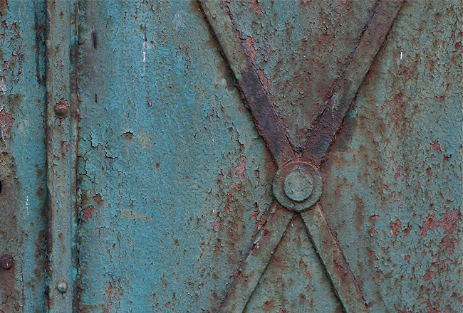 Blue metal door texture