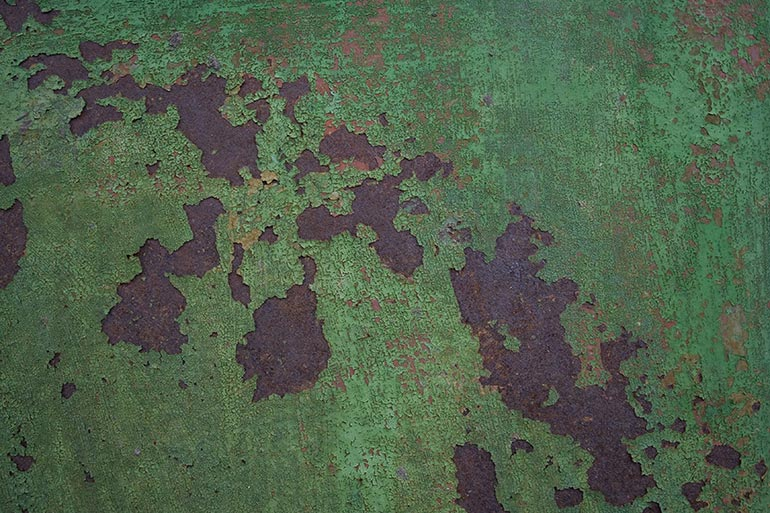 Green Metal, Rusty metal free stock texture