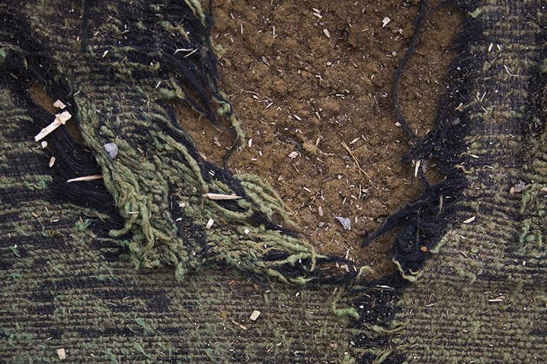 Grunge cracked green textile texture
