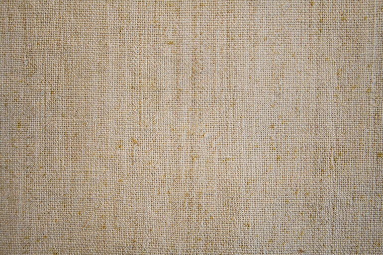 Linen textile texture closeup