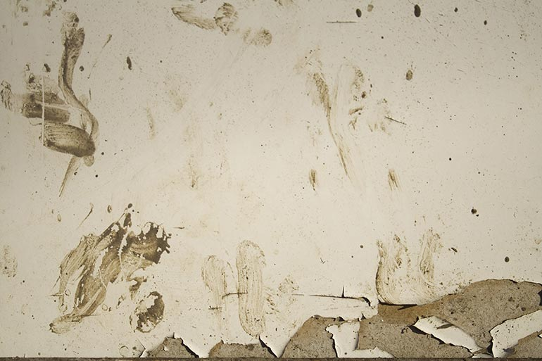 Grunge, White wall, with some dust