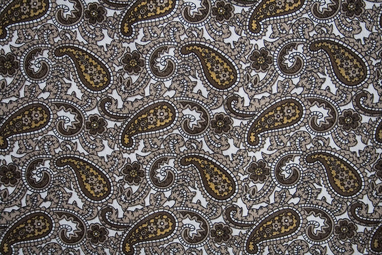 Old textile texture with brown vintage patterns