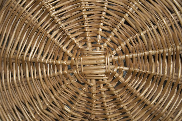 Wicker basket close texture