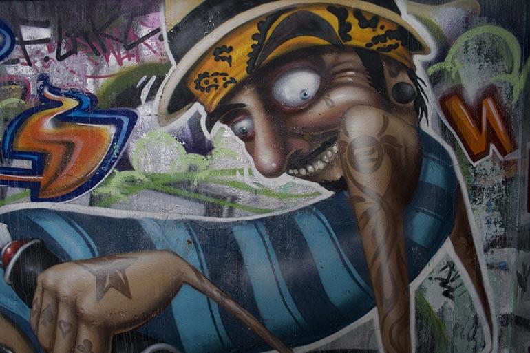 Graffiti inspiration, painted wall stock photo