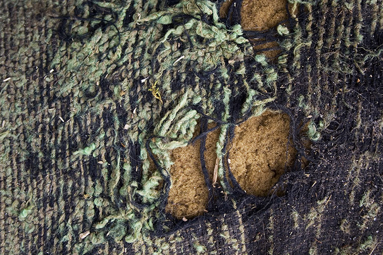 Torn grunge dirty textile texture