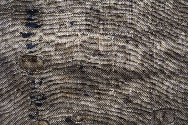 Old brown woven fabric texture