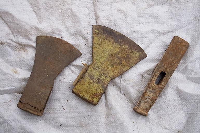 Rusty ax head stock texture