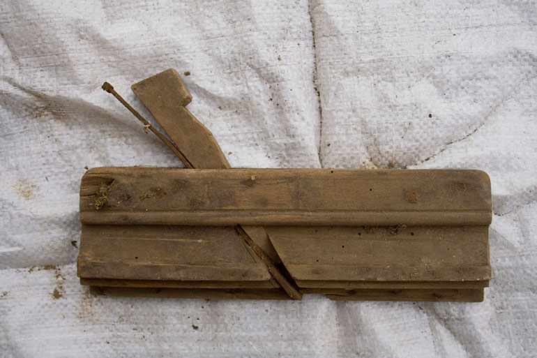 Vintage wooden hand plane