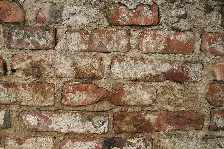 Brick Wall texture with paint dust