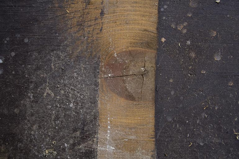 Old Wood planks, painted and dusty