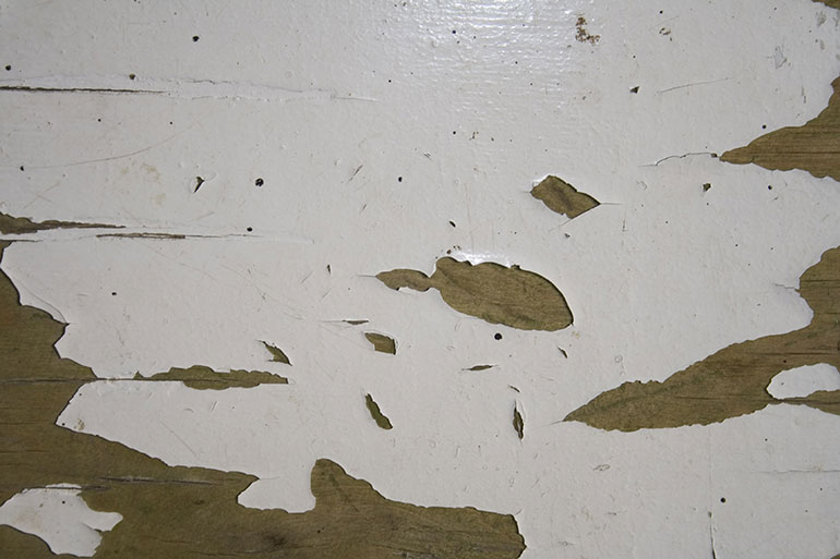 Cracked painted white wood texture