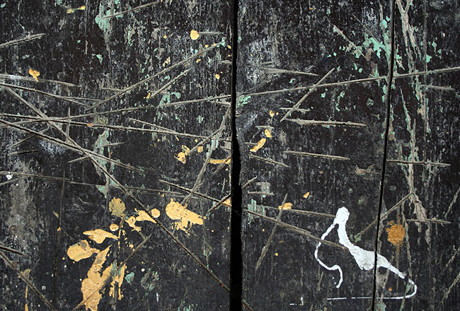 Grunge texture with yellow ink stain