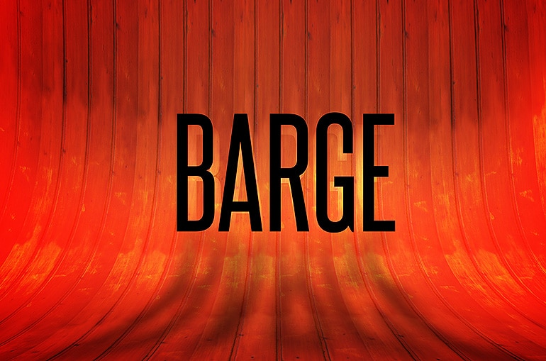 Barge –  4 Wall wood mockup texture