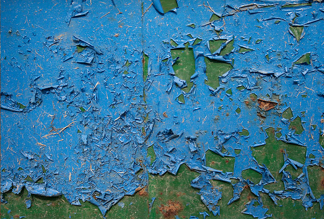 Blue metal texture with green