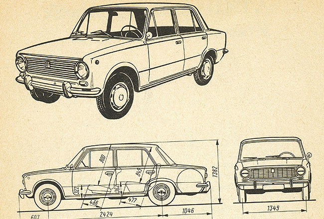 Car texture in a paper – lada