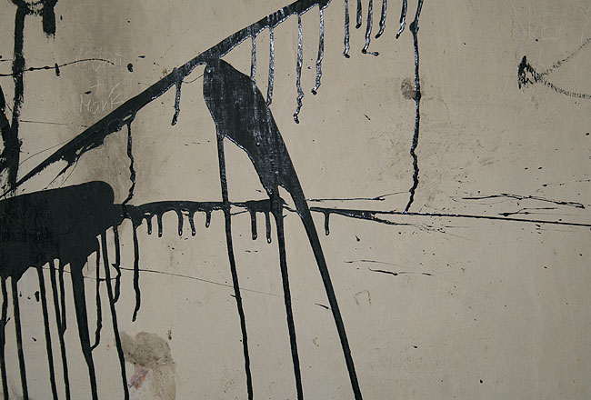 Dirty wall, with black paint
