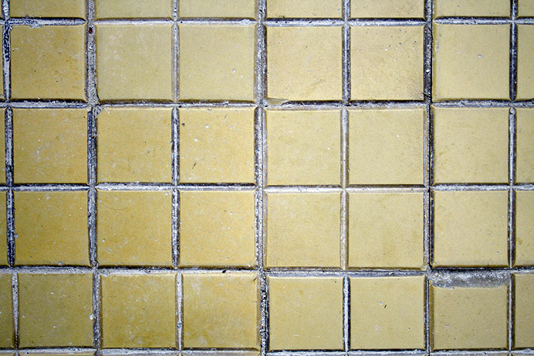 Yellow floor tiles