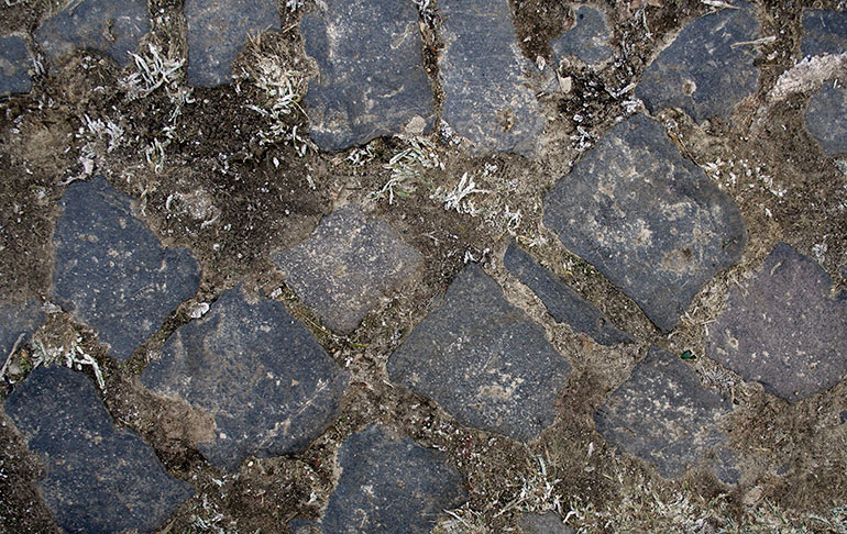 Frozen ground with paving
