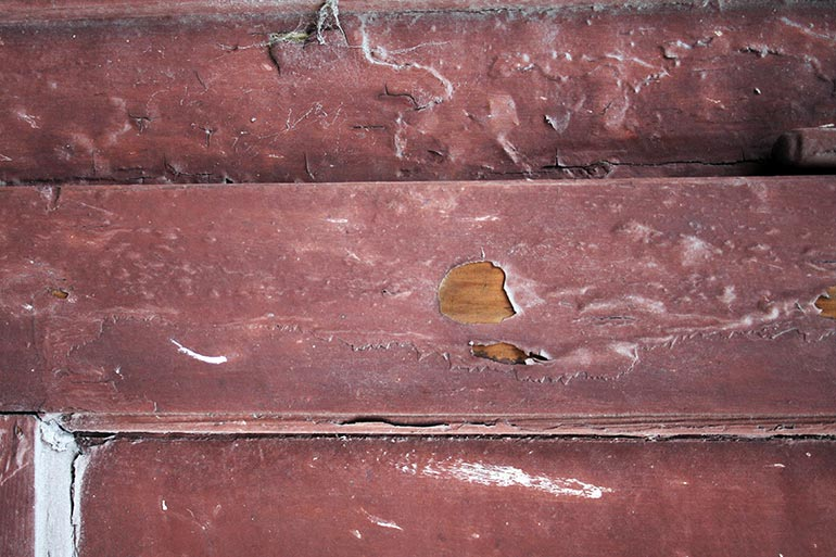 Old painted claret color wood texture