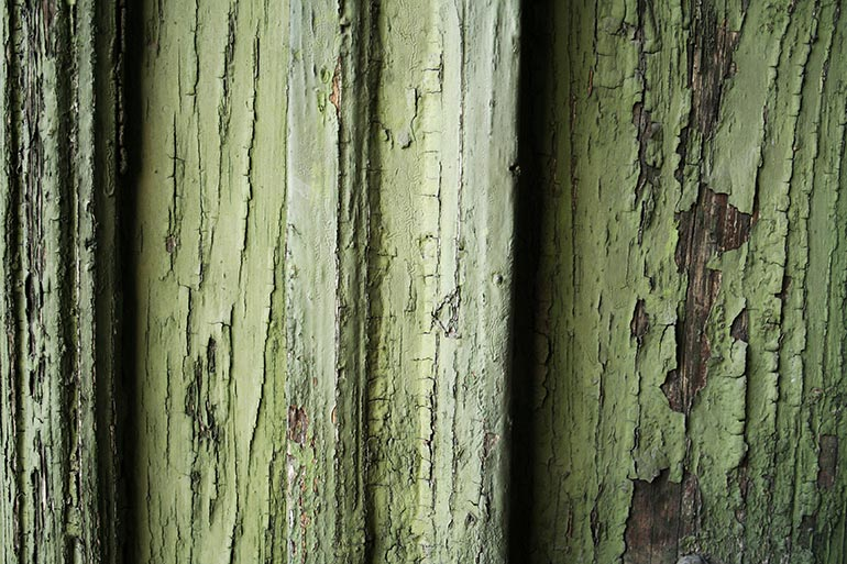 Green painted wood free texture