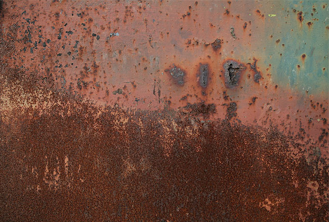 Very rusty metal texture with some green color