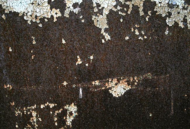 Dark brown, black rusty metal texture