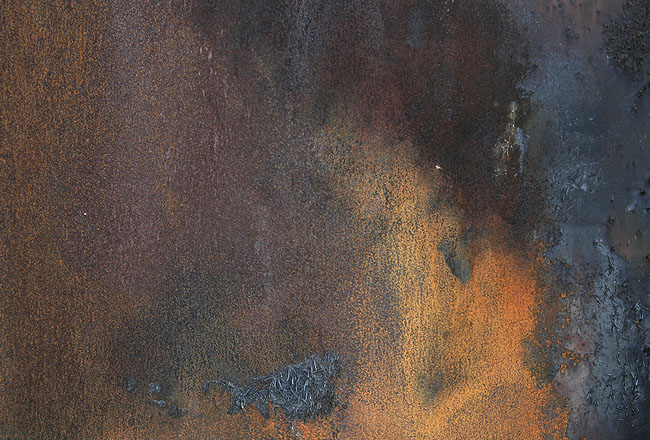 Rusty metal texture with soot