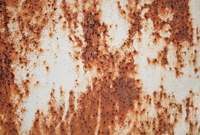 Brown and white color rusty metal texture