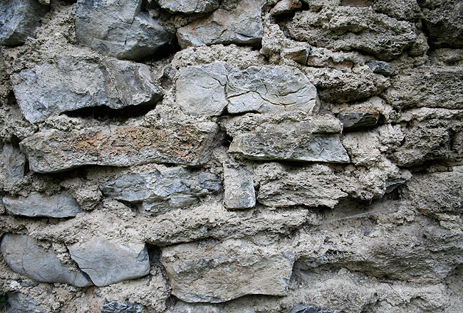 Stone wall texture close-up