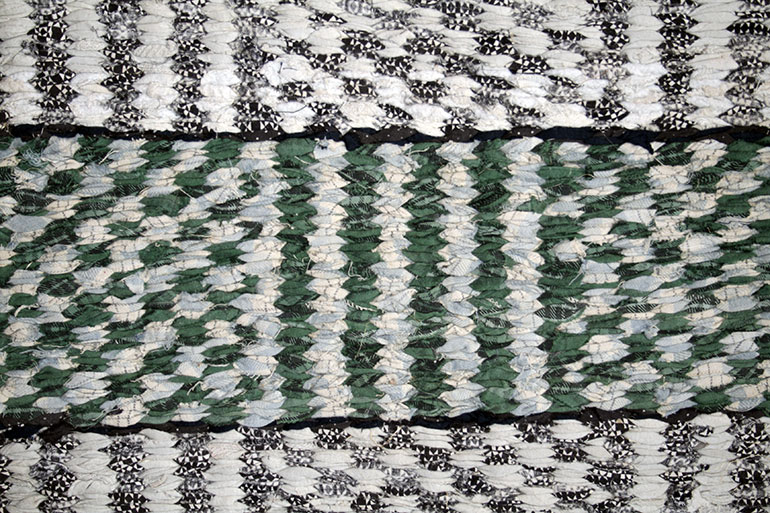 Green,white,black rugs textile texture