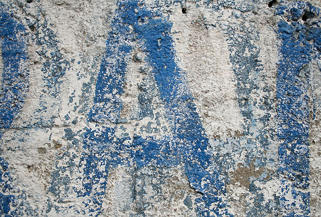 Wall texture with blue A grunge type