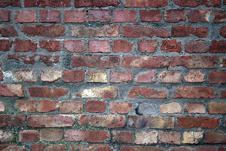 Free cracked old brick wall texture